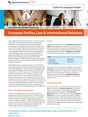 European Politics, Law & International Relations