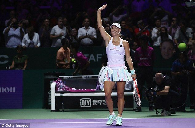 This is the first time Angelique Kerber has advanced past the round-robin stage of WTA Finals