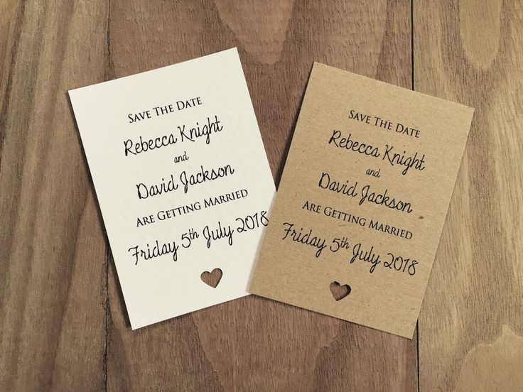 50 Personalised Save The Date Magnet Vintage/Shabby Chic Rustic Wedding Card