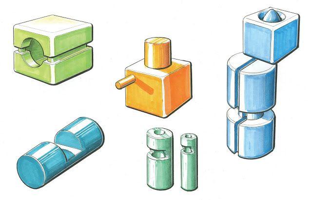 cubos y cilindros