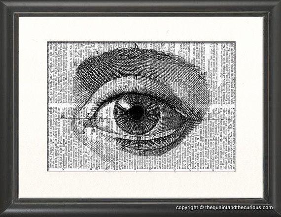 Eye Optometry Art Print Medical Anatomy Decor by QuaintandCurious, via Etsy.