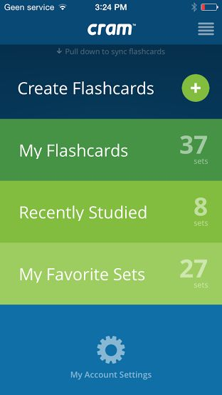 Lets you make and use flashcard sets online for free. You can also search their database and often find pre-made flashcards for your textbook or course.