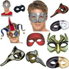 Mens Masquerade Ball Eyemask Eye Masks Venetian Columbina Loki Fancy Dress