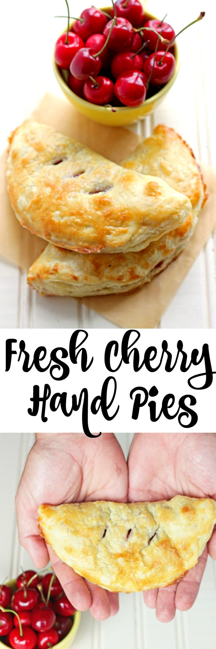 An easy dessert to use up fresh cherries. Use store-bought pastry, and have pies in 20 minutes!