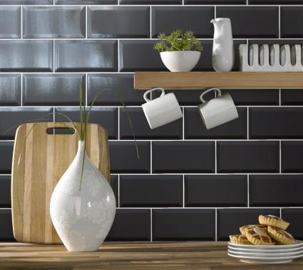 Black Metro tiles