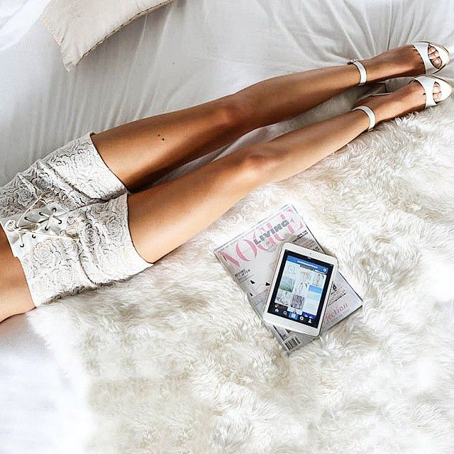 Lazy Monday mornings with our Rose Lace shorts and Sav heels... #winonaaustralia | Use Instagram online! Websta is the Best Instagram Web Viewer!