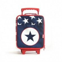 This kids luggage Trolley Bag is a gorgeous kids suitcase for little travellers! Kids will travel in style and be able to easily wheel their own bag around as it is extremely light-weight. Great for holidays and sleepovers.  Features:  Ideal size for toddlers Extendable handle and two wheels Fold open lid and large front pocket Fits into plane overhead cabin locker Scratch resistant coating Size - 35cm H x 24cm W x 12cm D