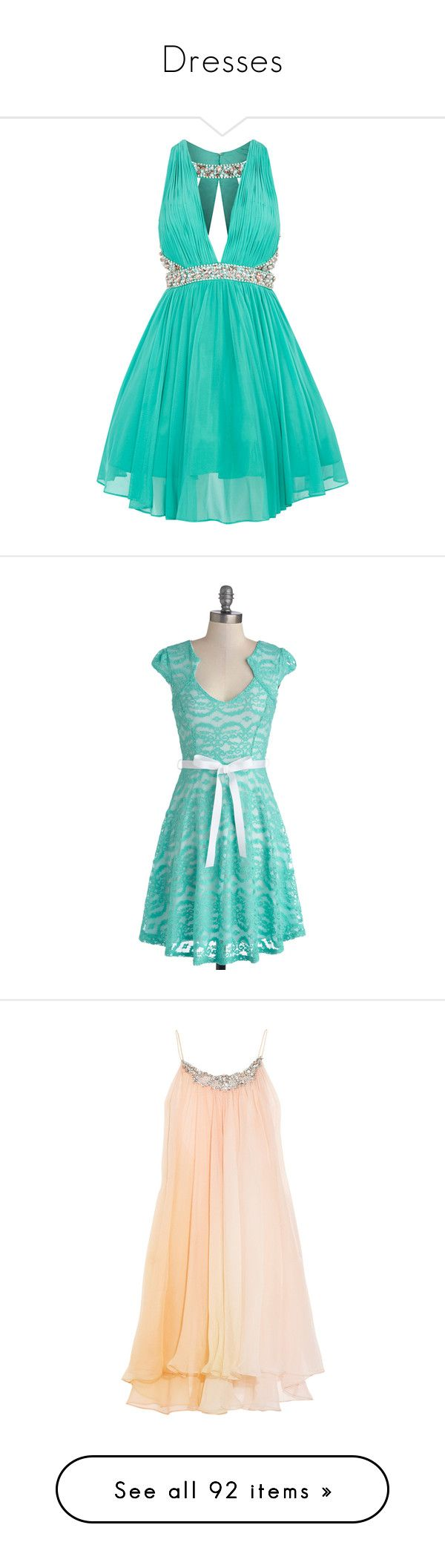 """Dresses"" by sarahmartins ❤ liked on Polyvore featuring dresses, vestidos, short dresses, formal dress, prom dresses, green dress, formal cocktail dresses, short prom dresses, short green dress and plus size women's fashion"