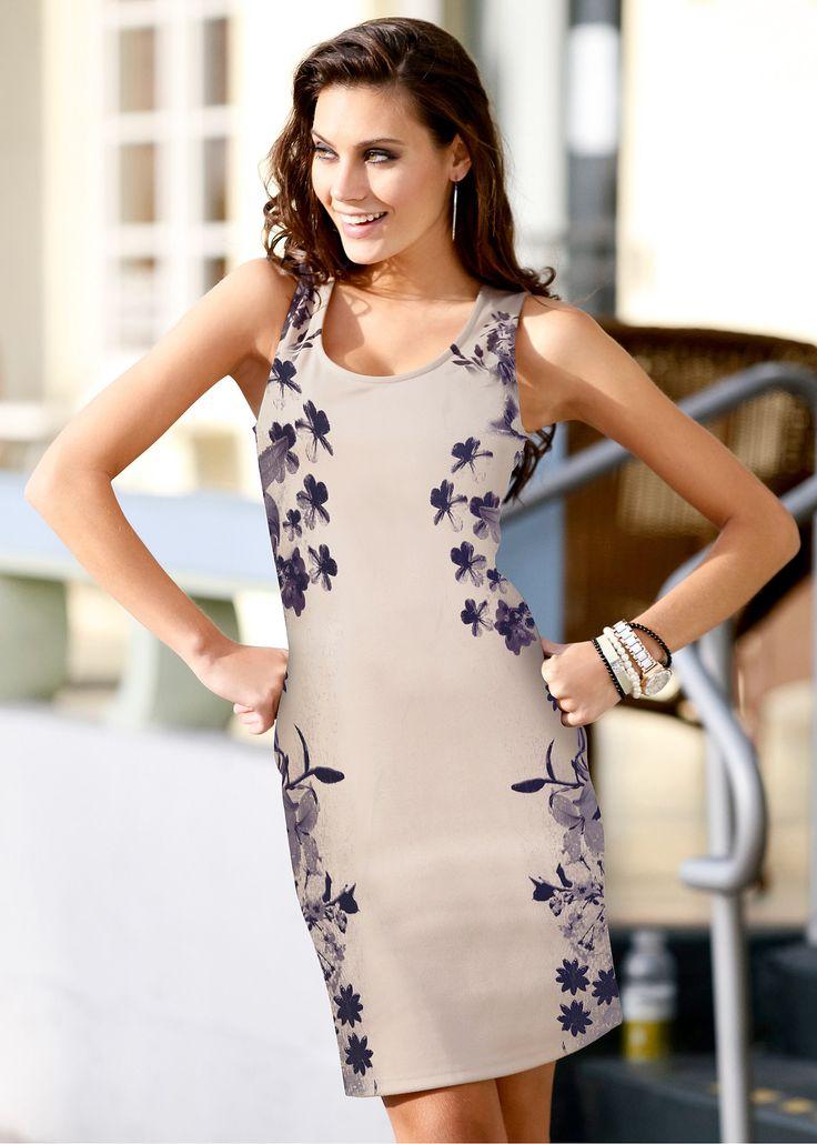 Vestido tubinho com estampa floral azul piscina encomendar agora na loja on-line bonprix.com.br  R$ 79,90 a partir de Beleza estonteante! Vestido de decote ...