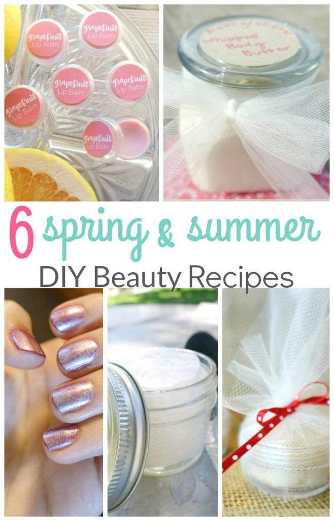 The best Spring and Summer Beauty Hacks! These 6 easy DIY beauty recipes will keep you looking and feeling beautiful all summer long!