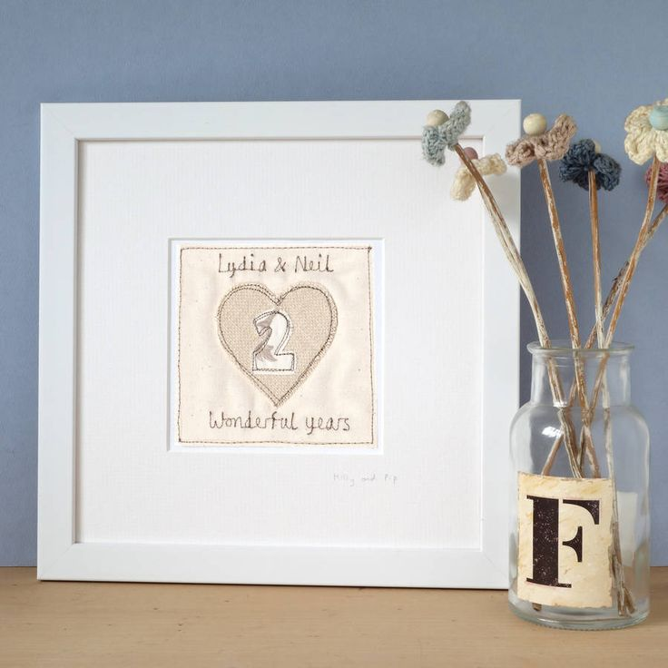 Personalised Second Wedding Anniversary Gift