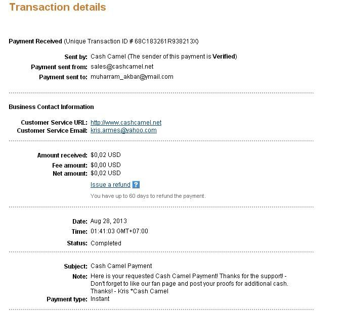 this is my 6th payment thx cashcamel