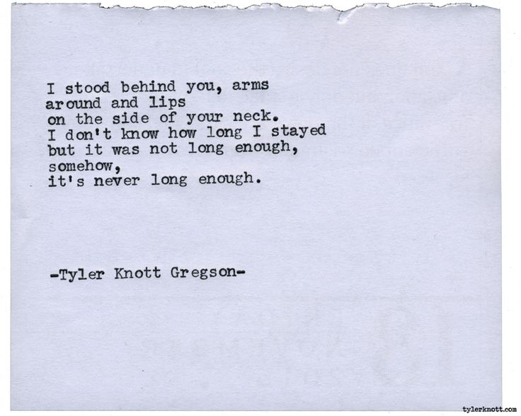 Typewriter Series #1708 by Tyler Knott Gregson