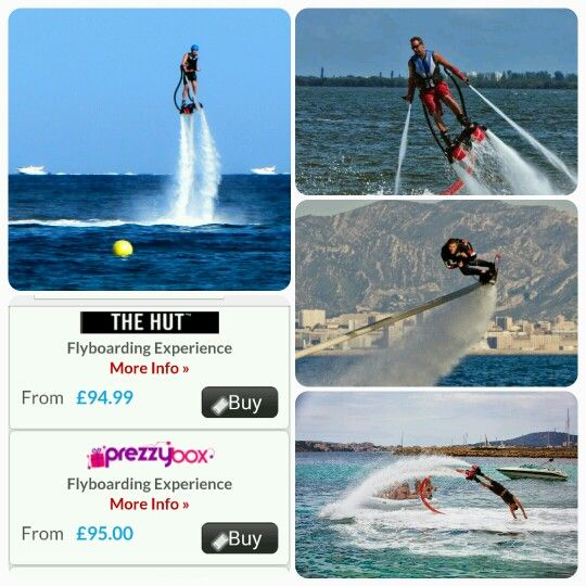 Prepare for an adrenaline-pumping blast that you'll never forget with this incredible #Flyboarding experience from as little as £55.00.  It's #AquaMan meets #IronMan as you strap yourself in to #hoverboard-style jet boots and arm-pads, before jets of water blast from your arms and feet and lift you high above the water!  You'll be able to reach heights of up to 10 metres and fly across the water at exciting speeds during your 30 minute session, and your instructor will be on hand to ensure…
