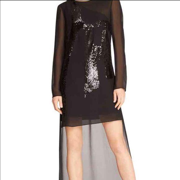 Halston heritage high low dress Beautiful high low dress with sequence! Worn once. Halston Heritage Dresses High Low