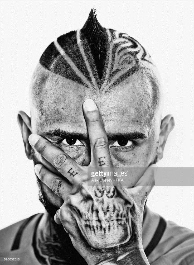 Arturo Vidal of Chile during a portrait session ahead of the FIFA Confederations Cup Russia 2017 at the Crowne Plaza Hotel on June 15, 2017 in Moscow, Russia.