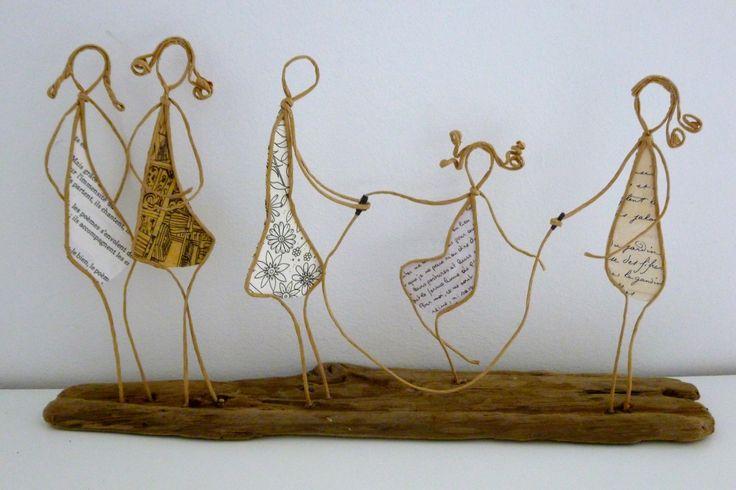 Partie de corde à sauter - figurines en ficelle et papier : Accessoires de maison par ficelleetpapier