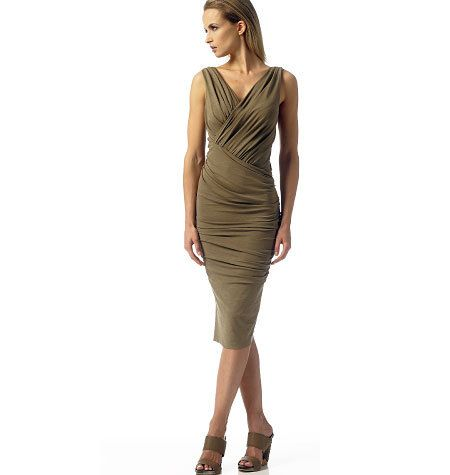 Vogue Dress Pattern V1342 by DONNA KARAN - Misses' Very Close Fitting Ruched Dress - Sz 12/14/16/18/20