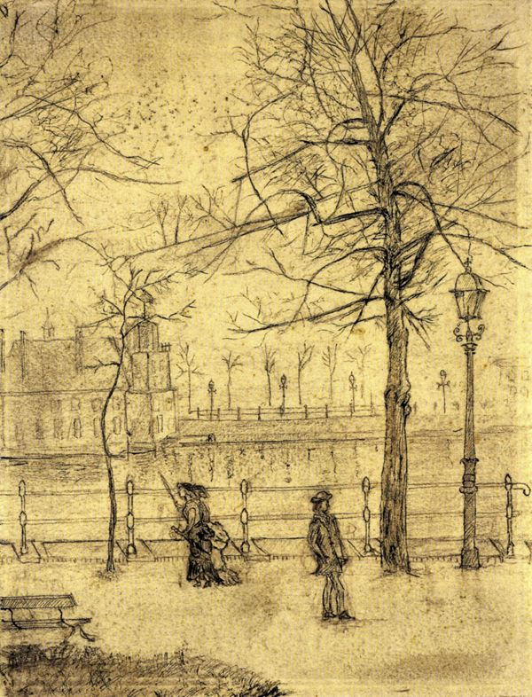 Van Gogh - early sketches...my god, how much does this resemble the 'immortal 8 ash-can' drawings of John Sloan, Everett Shin, William Glackens, et al??