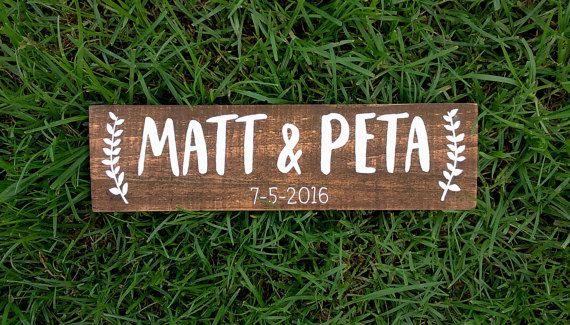 Hey, I found this really awesome Etsy listing at https://www.etsy.com/au/listing/277024796/personalised-wedding-sign-welcome-sign