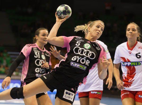 Györi Audi ETO KC mit Kantersieg gegen Budaörs Handball. Györi Audi ETO KC gewann am sechsten Spieltag in der ungarischen H ...