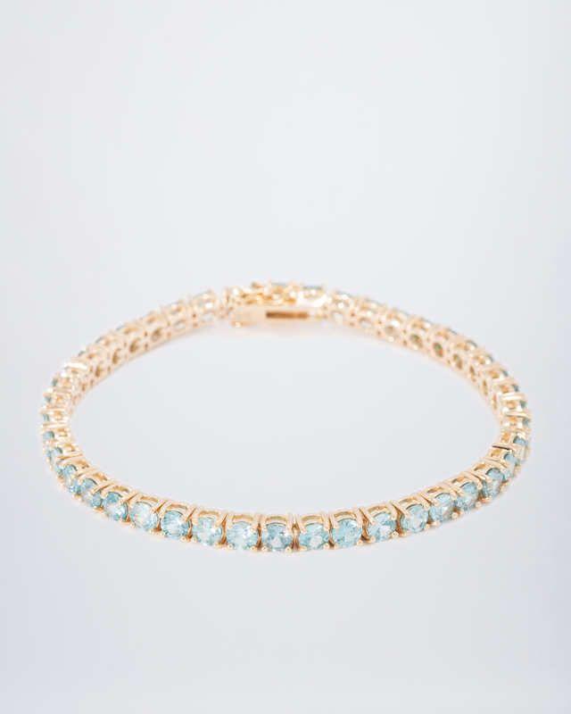 Zirkon-Armband aus 585er Gelbgold  #sognidoro #facettenreich mit #René #Conradt #sogni #doro #classic mit #Frank #Hartenberger #silberzeit mit #Ute #Wohlfart #colored #gemstone #jewelry