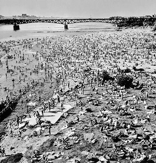 Warszawska plaża, lata 60-te