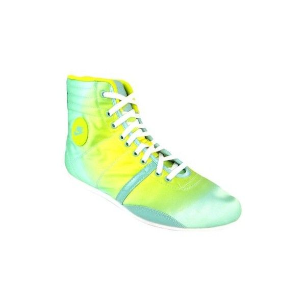 Nike Wmns Hijack Mid women's Mid lace up hi top boot style trainers... ($28) ❤ liked on Polyvore featuring shoes, sneakers, green, high top trainers, women, laced sneakers, lace up high top sneakers, lace up sneakers, lacing sneakers and lace up shoes
