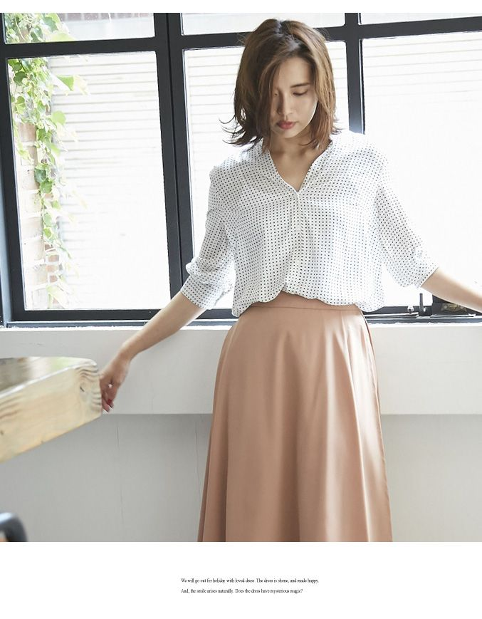 【楽天市場】08月26日 新発売!!【Dot print blouse】レディース シャツ ドット:nostalgia