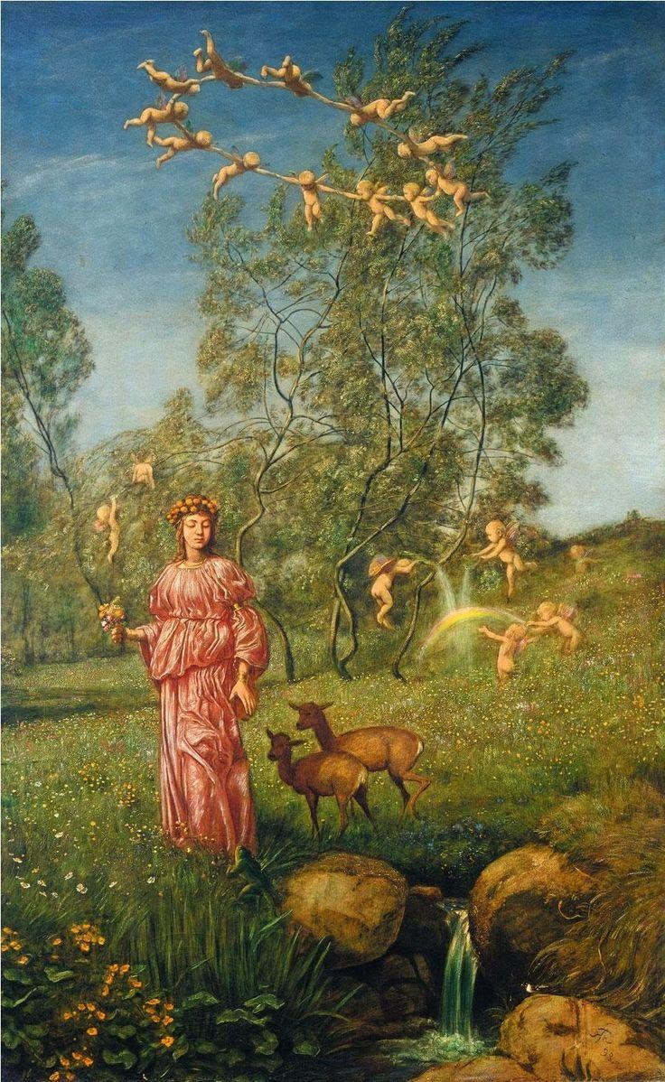 Hans Thoma - An allegory of springtime