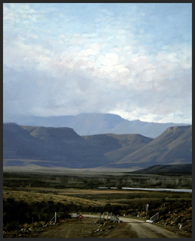 Cabedoo Gate - Karoo Landscape by South African artist, Shelagh Price.  http://www.shelaghprice.com