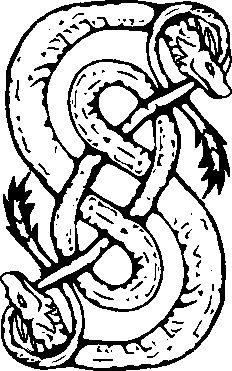The Symbol for Loki: One of the symbols used to represent Loki is that of two snakes, circling one another to form an 'S' shape, and biting the tail of the other.
