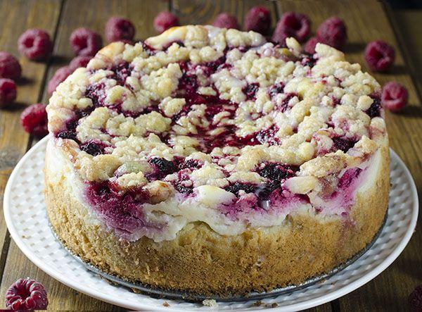 Raspberry Cream Cheese Coffee Cake - Chocolate Dessert Recipes - OMG Chocolate Desserts
