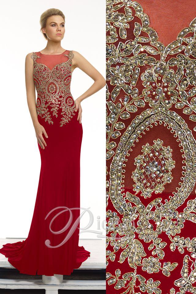 P1654 #embroideddress #beading #lace #reddress #engagement #formal #dress