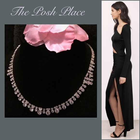 "🍾 Silver Tone Rhinestone 18"" Necklace 🥂 NWT🌹Elegant Silver Tone Rhinestone Necklace🌹Approximately 18"" Adjustable Length🌹 Charter Club Jewelry Necklaces"