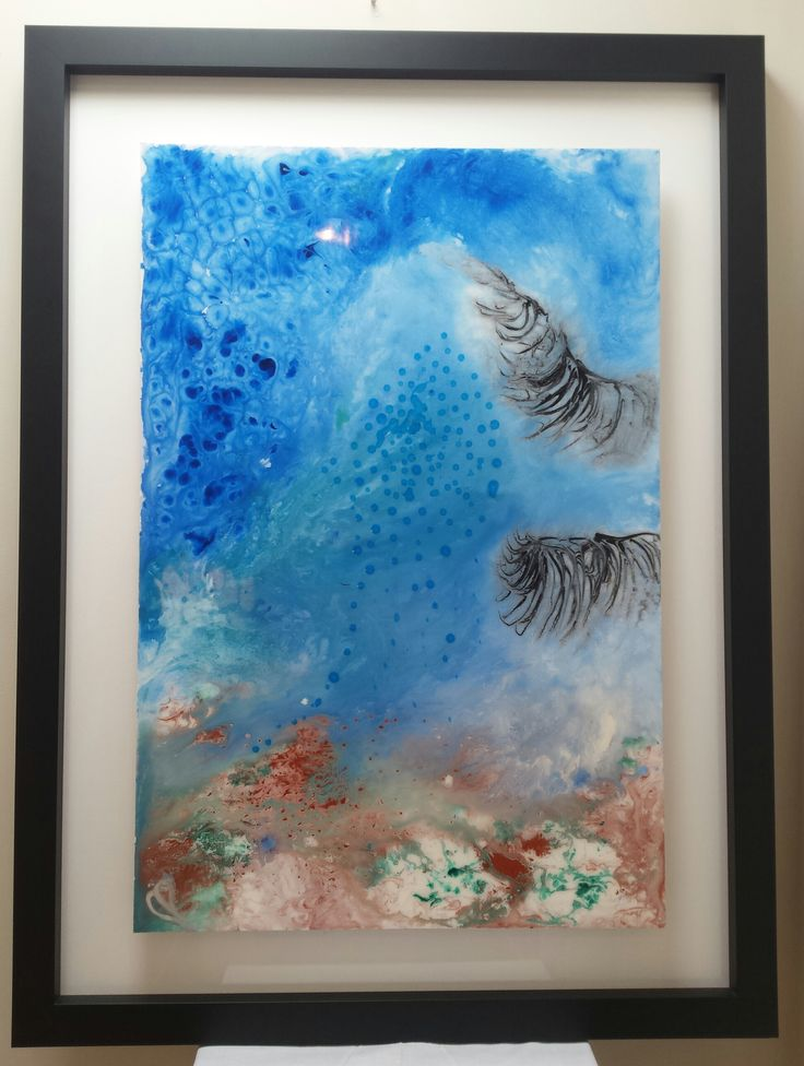 """""""Big Wave"""" - Original Resin Art by Claudia Paddison. Measures 86cm x 117cm incl. framing.  For sale $1,200. See more @ www.facebook.com/claudiascreationsbycp"""