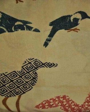 1472 57 Seagulls Cream | Clothworks | Skipping Stones Studio | Summerland