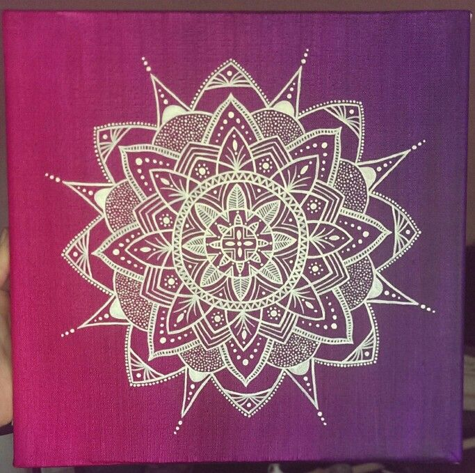 Mandala painting acrylic canvas