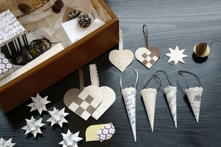 Danish diy Christmas ornaments from upcycled materials