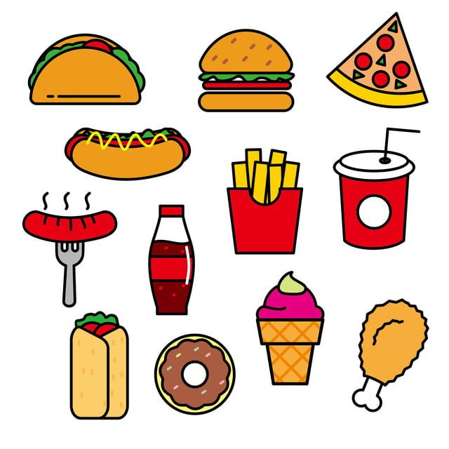 Hand Drawn Burger And Fries Fast Food Design With Commercial Elements Food Clipart Hand Painted Food Png Transparent Clipart Image And Psd File For Free Down Food Clipart Burger And Fries