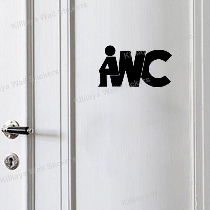 Creative Diy Funny Top Design Toilet Door Sign Sticker