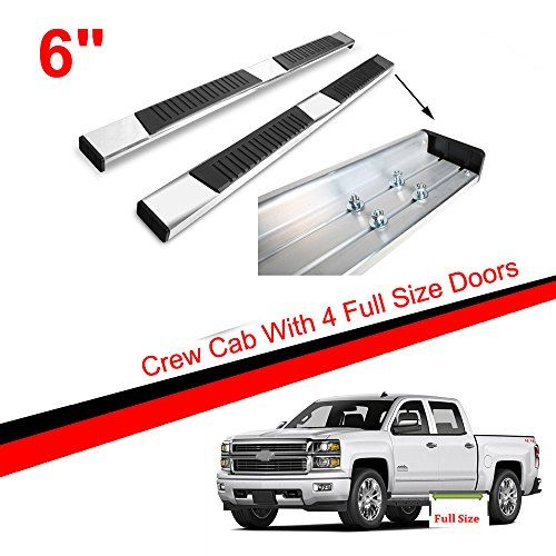 "Mifeier 90"" Mega Nerf Bars Side Step Running Boards Fit 07-18 Chevy Silverado/ GMC Sierra Crew Cab With 4 Full Size Doors. For product info go to:  https://www.caraccessoriesonlinemarket.com/mifeier-90-mega-nerf-bars-side-step-running-boards-fit-07-18-chevy-silverado-gmc-sierra-crew-cab-with-4-full-size-doors/"