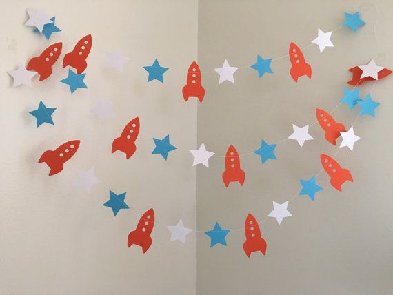 Rocket Blast Off Party Decoration Paper Garland by ClassicBanners