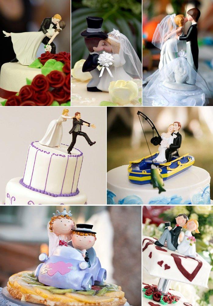 Lustige Tortenfiguren zur Hochzeit