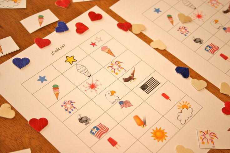 4th of July printables: Spanish activities for kids from Spanish Playground. #Spanish #games  http://spanishplayground.net/spanish-game-kids-4th-of-july-printable/