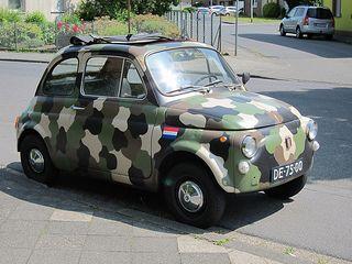 Fiat 500 speciaal voor Monique gevonden ;-)