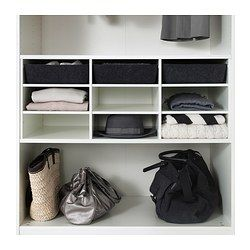 """IKEA - KOMPLEMENT, Sectioned shelves, 39 3/8x22 7/8 """", , 10-year Limited Warranty. Read about the terms in the Limited Warranty brochure.The sectioned shelves allow you to store and organize folded clothes, bed linens, towels or accessories in a wardrobe.Nine open shelves protect your clothes and keep them neat and easy to find."""