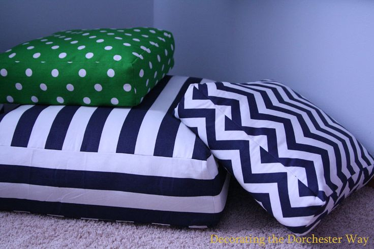 I love all of the Poufs available to purchase, including the cute Striped Poufs from West Elm! SO Cute, but so expensive! So I figured I ...