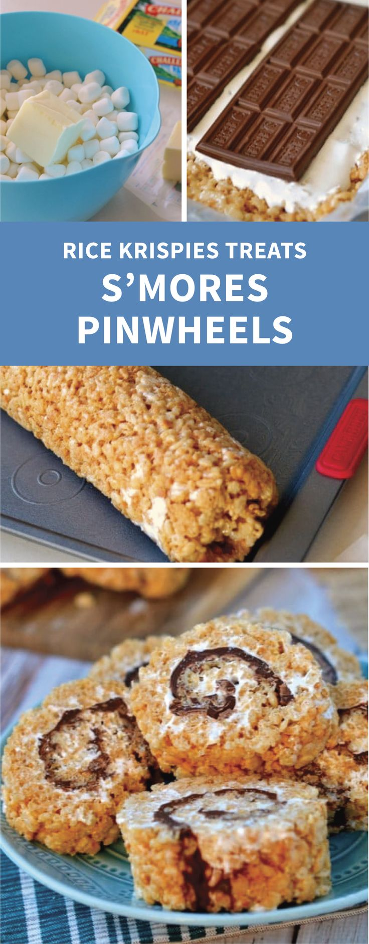 Looking for a bite-sized dessert that you can bring to parties to share with friends and family? Check out these S'mores Rice Krispies Treats® Pinwheels. Roll layers of chocolate, graham crackers, and marshmallow cream in crispy, crunchy Rice Krispies® cereal to create this easy no-bake recipe.