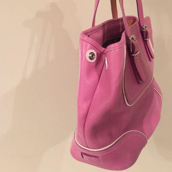 Pink Coach purse!!! Unique, pink Coach purse! Great condition! Coach Bags Shoulder Bags